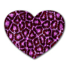 Cheetah Bling Abstract Pattern  Mouse Pad (Heart) by OCDesignss