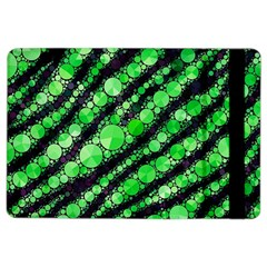 Florescent Green Tiger Bling Pattern  Apple Ipad Air 2 Flip Case by OCDesignss