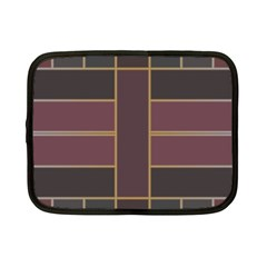 Vertical And Horizontal Rectangles Netbook Case (small) by LalyLauraFLM
