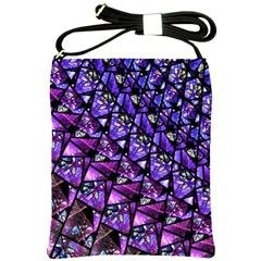 Blue Purple Glass Shoulder Sling Bag