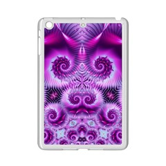 Purple Ecstasy Fractal Apple Ipad Mini 2 Case (white) by KirstenStar