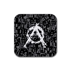 Anarchy Drink Coaster (square) by ArtistRoseanneJones