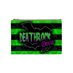 Deathrock Diva Cosmetic Bag (Medium) by ArtistRoseanneJones