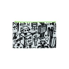 Robot Crowd Cosmetic Bag (xs) by ArtistRoseanneJones