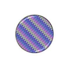 Diagonal Chevron Pattern Hat Clip Ball Marker by LalyLauraFLM
