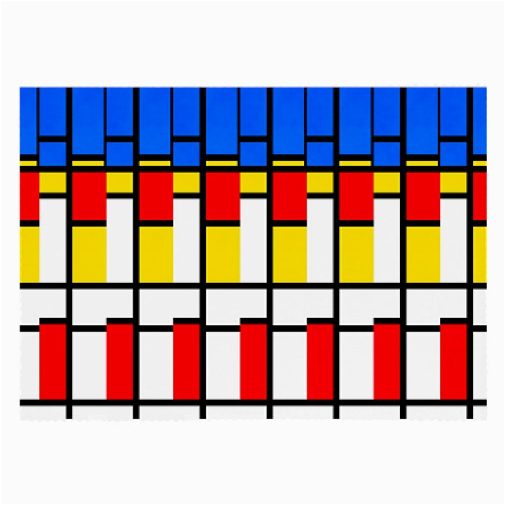 Colorful rectangles pattern Large Glasses Cloth (2 Sides)