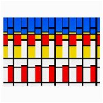 Colorful rectangles pattern Large Glasses Cloth (2 Sides) Back