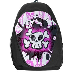Cartoon Skull  Backpack Bag by ArtistRoseanneJones