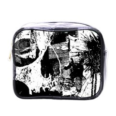 Grunge Skull Mini Travel Toiletry Bag (one Side) by ArtistRoseanneJones
