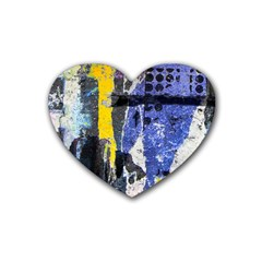 Urban Grunge Drink Coasters 4 Pack (heart)  by ArtistRoseanneJones