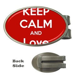 Keep Calm And Love Music 5739 Money Clip (oval) by SuperFunHappyTime