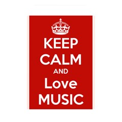 Keep Calm And Love Music 5739 Memory Card Reader (rectangular) by SuperFunHappyTime