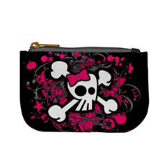 Girly Skull And Crossbones Coin Change Purse by ArtistRoseanneJones