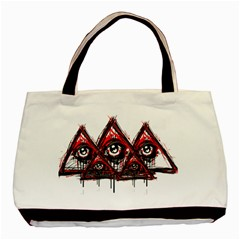 Red White Pyramids Classic Tote Bag by teeship