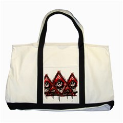Red White Pyramids Two Toned Tote Bag by teeship