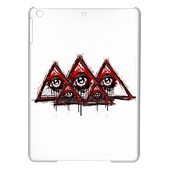 Red White Pyramids Apple Ipad Air Hardshell Case