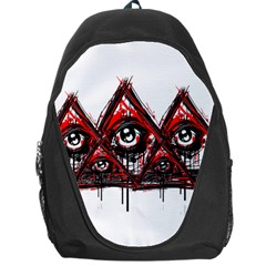 Red White Pyramids Backpack Bag