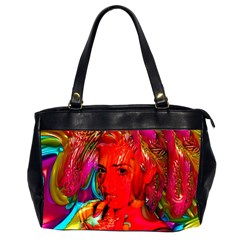 Mardi Gras Oversize Office Handbag (two Sides) by icarusismartdesigns