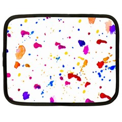 Multicolor Splatter Abstract Print Netbook Sleeve (xl) by dflcprints