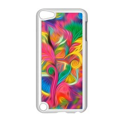 Colorful Floral Abstract Painting Apple Ipod Touch 5 Case (white)