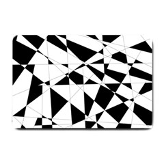 Shattered Life In Black & White Small Door Mat by StuffOrSomething