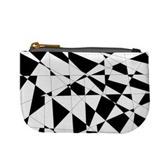 Shattered Life In Black & White Coin Change Purse by StuffOrSomething