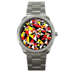 Shattered Life With Rays Of Hope Sport Metal Watch