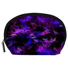 Purple Skulls Goth Storm Accessory Pouch (large) by KirstenStar