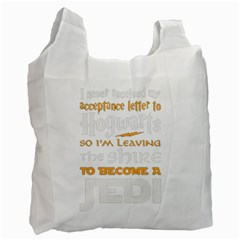 Howarts Letter White Reusable Bag (one Side) by empyrie
