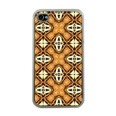 Faux Animal Print Pattern Apple Iphone 4 Case (clear)
