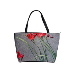 Red Flowers Shoulder Handbags by DeneWestUK