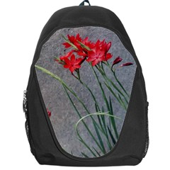 Red Flowers Backpack Bag by DeneWestUK