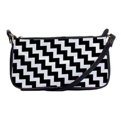 Black And White Zigzag Shoulder Clutch Bags by ElenaIndolfiStyle