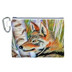Wolfpastel Canvas Cosmetic Bag (l) by LokisStuffnMore