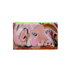 Piggy No 3 Cosmetic Bag (xs) by timelessartoncanvas