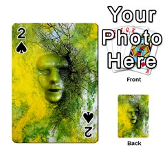 Green Mask Playing Cards 54 Designs  by timelessartoncanvas