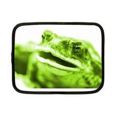 Green Frog Netbook Case (small)  by timelessartoncanvas