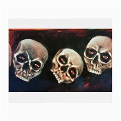 Halloween Skulls No  2 Small Glasses Cloth (2 Side) by timelessartoncanvas
