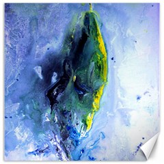 Bright Yellow And Blue Abstract Canvas 20  X 20   by timelessartoncanvas