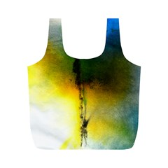 Watercolor Abstract Full Print Recycle Bags (m)  by timelessartoncanvas