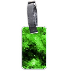 Bright Green Abstract Luggage Tags (one Side)  by timelessartoncanvas