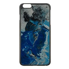 Blue Abstract Apple Iphone 6 Plus Black Enamel Case by timelessartoncanvas