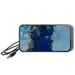 Blue Abstract No 2 Portable Speaker (black)