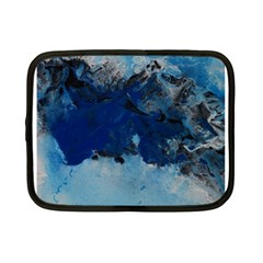 Blue Abstract No 5 Netbook Case (small)  by timelessartoncanvas