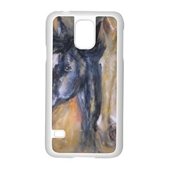 2 Horses Samsung Galaxy S5 Case (white) by timelessartoncanvas