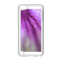 Purple Flower Pedal Apple Ipod Touch 5 Case (white)