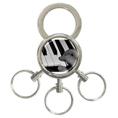 The Piano Player 3 Ring Key Chains by timelessartoncanvas