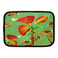 Tropical Floral Print Netbook Case (medium)  by dflcprints