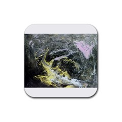 Black Ice Rubber Square Coaster (4 Pack)  by timelessartoncanvas