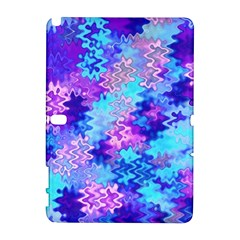 Blue and Purple Marble Waves Samsung Galaxy Note 10.1 (P600) Hardshell Case